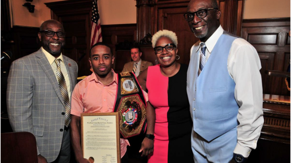 ESSEX COUNTY FREEHOLDERS HONOR ANTHONY JOHNS FOR WINNING NATIONAL GOLDEN GLOVES CHAMPIONSHIP