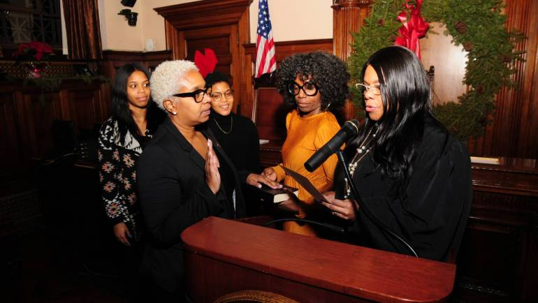 ROMAINE GRAHAM CEREMONIOUSLY SWORN-IN AS ESSEX COUNTY AT-LARGE FREEHOLDER