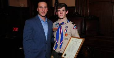 ESSEX COUNTY FREEHOLDERS HONOR  CHRISTIAN STYSKAL FOR ACHIEVING THE RANK OF EAGLE SCOUT